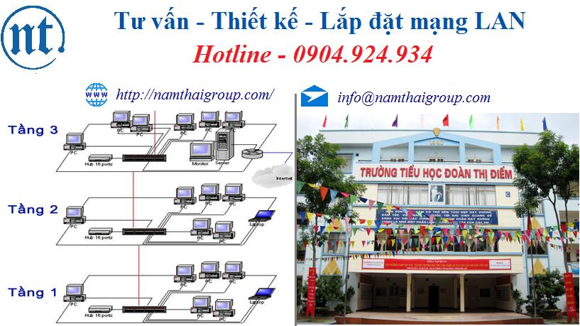 lắp đặt mạng LAN cho trường học