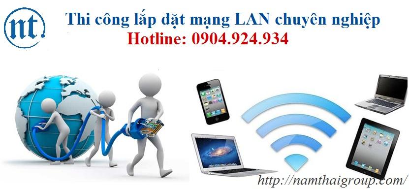 thi công lắp đặt mạng LAN