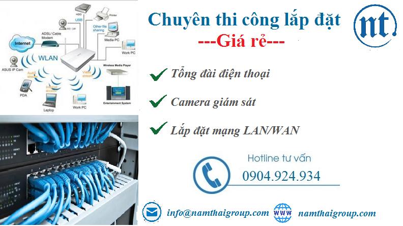 lắp đặt mạng LAN tại Nam Thăng Long