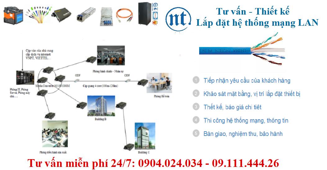 Lắp đặt mạng LAN tại Mỹ đình