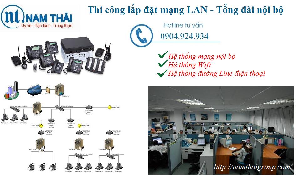 lắp đặt mạng LAN tại ngân hàng Nam A Bank